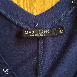 Max Jeans Tops - Anchor print swing tank top